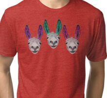 Funny donkeys (version 2) Tri-blend T-Shirt
