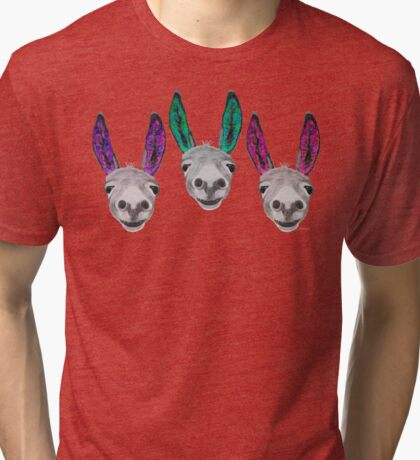 Funny donkeys (version 2) Tri-blend T-Shirt
