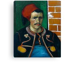 1888-Vincent van Gogh-The Zouave-54x65 Canvas Print