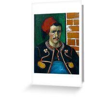 1888-Vincent van Gogh-The Zouave-54x65 Greeting Card