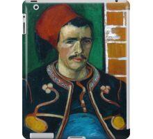 1888-Vincent van Gogh-The Zouave-54x65 iPad Case/Skin