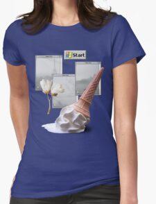Paris Vaporwave Aesthetics Womens Fitted T-Shirt