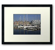 University Campus and Ipswich Waterfront Framed Print