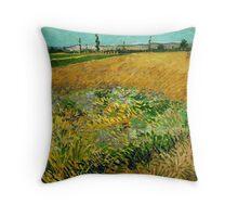 1888-Vincent van Gogh-Wheatfield-54x65 Throw Pillow