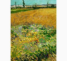 1888-Vincent van Gogh-Wheatfield-54x65 Unisex T-Shirt