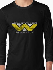 Weyland Yutani (Scuffed logo) Long Sleeve T-Shirt