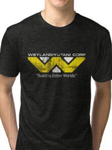 Weyland Yutani (Scuffed logo) Tri-blend T-Shirt