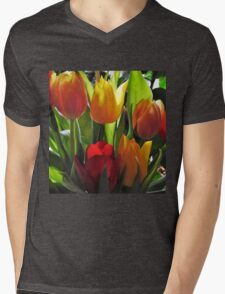 Tulips  Mens V-Neck T-Shirt