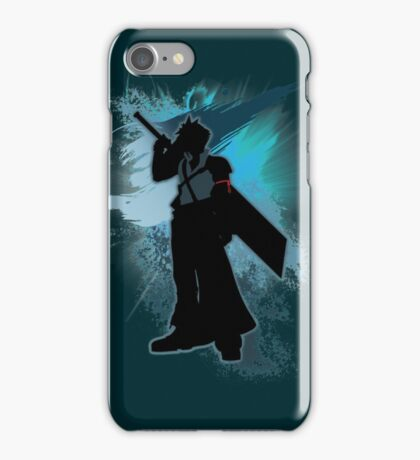 Super Smash Bros. Teal Advent Cloud Silhouette iPhone Case/Skin