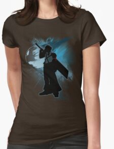 Super Smash Bros. Teal Advent Cloud Silhouette Womens Fitted T-Shirt
