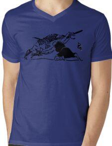 Go with the flow Mens V-Neck T-Shirt