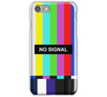 No Signal TV screen iPhone Case/Skin