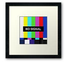 No Signal TV screen Framed Print
