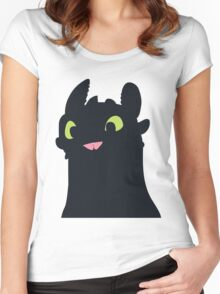 Toothless The Dragon Women's Fitted Scoop T-Shirt