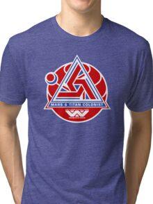 Alien Mars & Titan Colony Logo Tri-blend T-Shirt