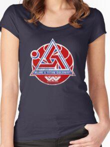 Alien Mars & Titan Colony Logo (scuffed) Women's Fitted Scoop T-Shirt