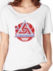 Alien Mars & Titan Colony Logo (scuffed) Women's Relaxed Fit T-Shirt