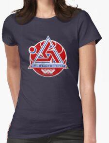 Alien Mars & Titan Colony Logo (scuffed) Womens Fitted T-Shirt