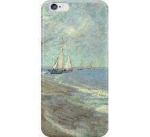 Vincent Van Gogh - Fishing Boats On The Beach At Les Saintes-Maries-De-La-Mer  iPhone Case/Skin