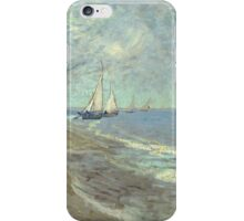 Vincent Van Gogh - Fishing Boats On The Beach At Les Saintes-Maries-De-La-Mer . Van Gogh - Seascape iPhone Case/Skin