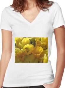 Daffodils Women's Fitted V-Neck T-Shirt
