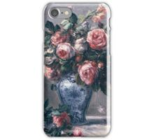 Renoir Auguste - Vase Of Roses iPhone Case/Skin