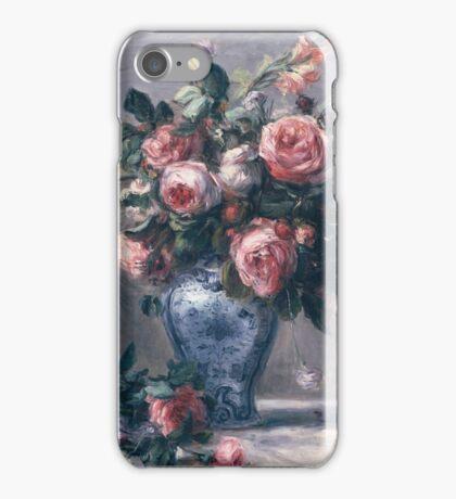 Renoir Auguste - Vase Of Roses iPhone Case/Skin