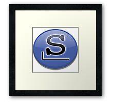 Slackware logo Framed Print