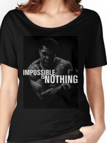 """Mohamed Ali """"impossible is nothing"""" Women's Relaxed Fit T-Shirt"""