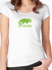 Open Suse logo  Women's Fitted Scoop T-Shirt