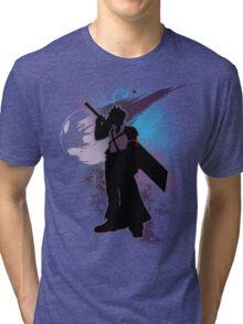 Super Smash Bros. Purple Advent Cloud Silhouette Tri-blend T-Shirt