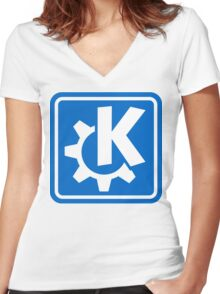 KDE logo Women's Fitted V-Neck T-Shirt