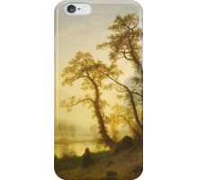 Albert Bierstadt - Sunrise, Yosemite Valley 1870. Famous Paintings. Original iPhone Case/Skin