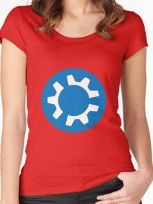 kubuntu logo Women's Fitted Scoop T-Shirt