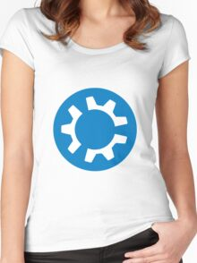 kubuntu logo Women's Fitted Scoop T-Shirt
