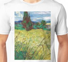 1889-Vincent van Gogh-Green Field-73,5x92,5 Unisex T-Shirt
