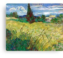 1889-Vincent van Gogh-Green Field-73,5x92,5 Canvas Print