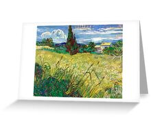 1889-Vincent van Gogh-Green Field-73,5x92,5 Greeting Card