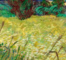 1889-Vincent van Gogh-Green Field-73,5x92,5 Sticker