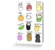 Hamsters, Hamsters Everywhere Greeting Card