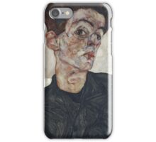 Egon Schiele - Self-Portrait with Chinese Lantern Plant 1912  Expressionism  Portrait iPhone Case/Skin