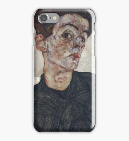Egon Schiele - Self-Portrait with Chinese Lantern Plant 1912  Expressionism  Portrait iPhone Case/Skin