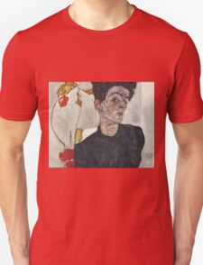 Egon Schiele - Self-Portrait with Chinese Lantern Plant 1912  Expressionism  Portrait Unisex T-Shirt