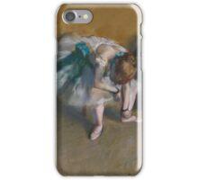 Edgar Degas - Waiting (1882) iPhone Case/Skin