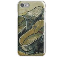 Vincent Van Gogh  - A pair of leather clogs, 1888. Famous Paintings. Impressionism. iPhone Case/Skin