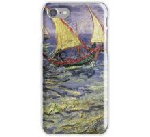 Vincent Van Gogh - Seascape At Saintes-Maries View Of Mediterranean .  Seascape. Van Gogh -Seascape iPhone Case/Skin