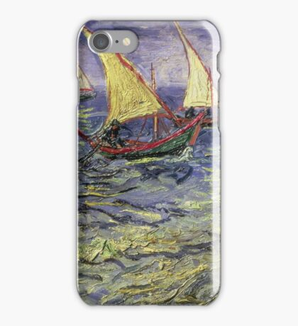 Vincent Van Gogh - Seascape At Saintes-Maries View Of Mediterranean .  Seascape. Van Gogh -Seascape iPhone Case/Skin