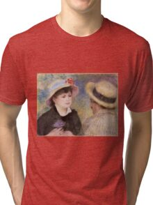 Auguste Renoir - Boating Couple said to be Aline Charigot 1881 Tri-blend T-Shirt