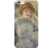 Auguste Renoir - Alphonsine Fournaise 1879 Woman Portrai iPhone Case/Skin