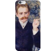 Auguste Renoir - Albert Cahen d'Anvers 1881 Man Portrait Elegant iPhone Case/Skin